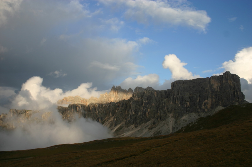 The Dolomites: Evening light from Passo Giau - © William Mackesy
