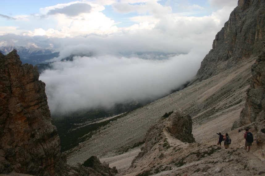 The Dolomites: Descending from the Pelmo cliffs - © William Mackesy