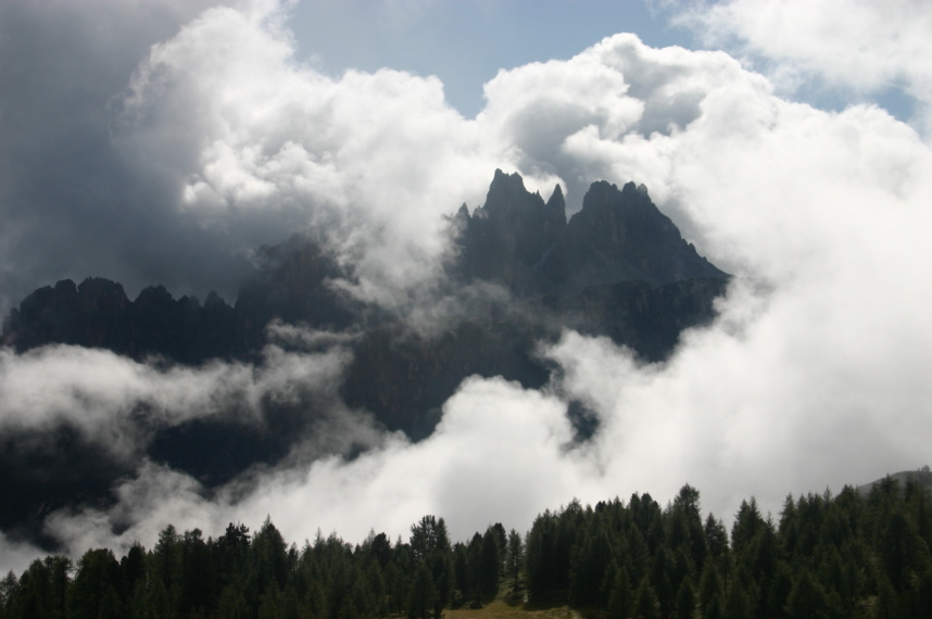 The Dolomites: From below Cinque Torri - © William Mackesy