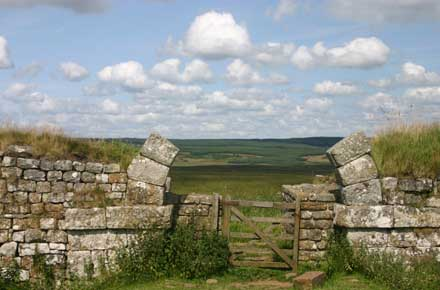 "Hadrian""s Wall Path - Through Milecastle Gate - © William Mackesy"