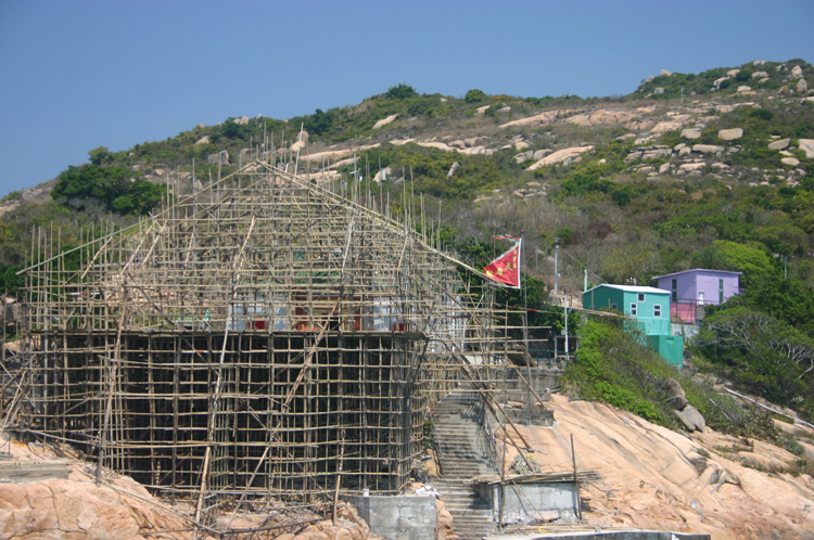 China Hong Kong, Po Toi, Bamboo Stage for Tin Hau festival, Walkopedia