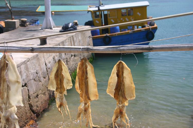 China Hong Kong, Po Toi, Drying Squid, Walkopedia