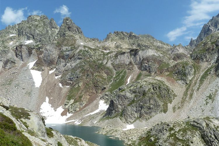 Pyrenean Haute Route: Lac d'Arriel (2200m) and Vignemale (3298m) - 12082013 - © Dick Everard