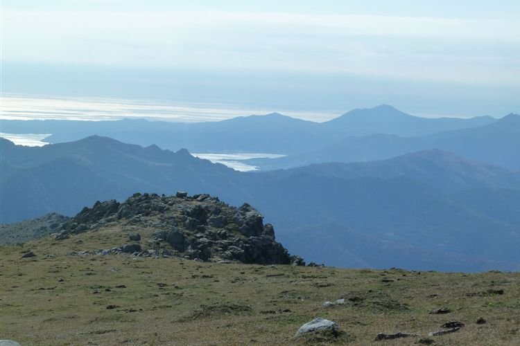 Pyrenean Haute Route: View of Mediterranean looking south from Pic des Quatre Termes (1156m) - 09092013 - © Dick Everard