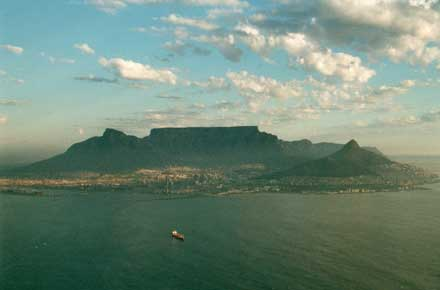 Cape of Good Hope: Table Mountain, top end of Cape peninsula - © William Mackesy
