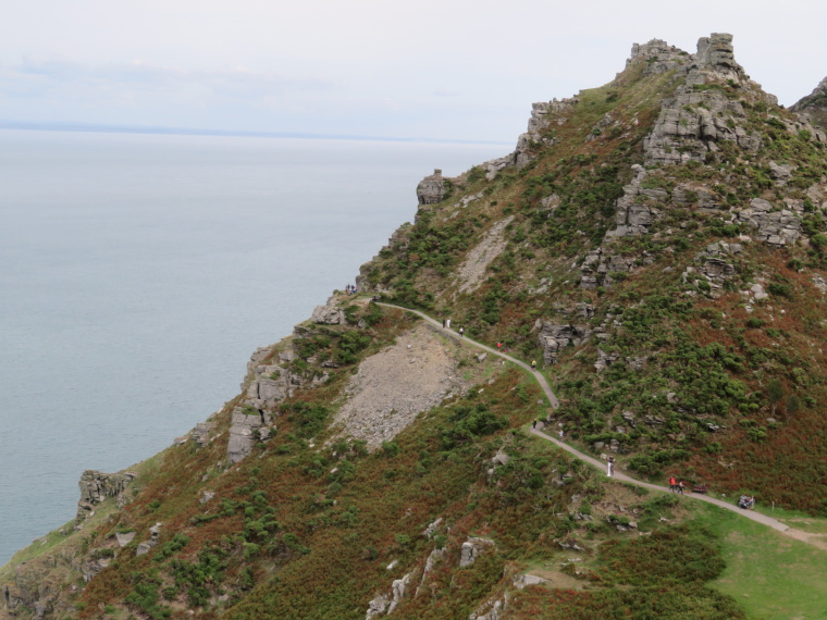 South West Coast Path: Looking east from Castle Rock, west of Lynton - © William Mackesy