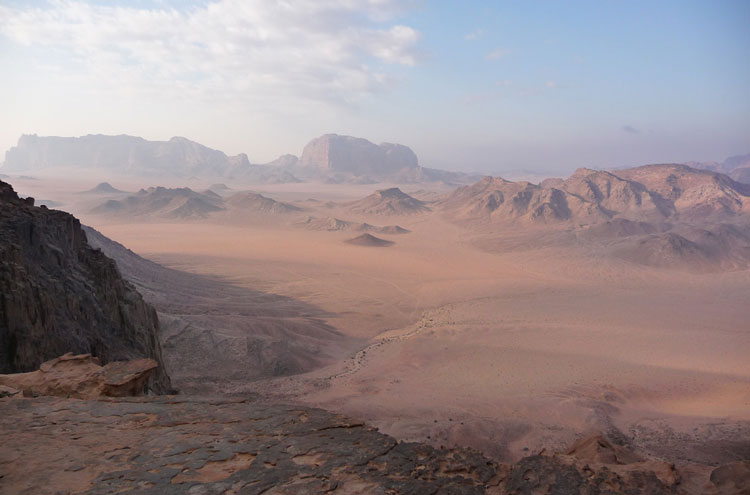 Around Jebel Rum: View North From Jebel Rum - © By Flickr user Elson