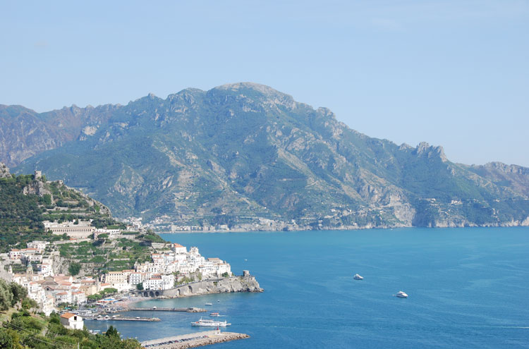 Pastena-Lone Circuit: View of Amalfi From Lone - © Dee Mahan