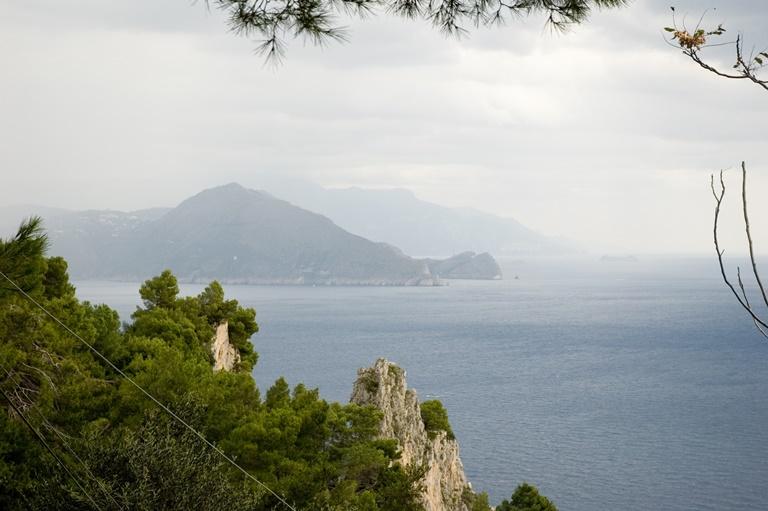 Italy Amalfi Coast, Sorrento Peninsula, view of Sorrento Peninsula from Capri , Walkopedia