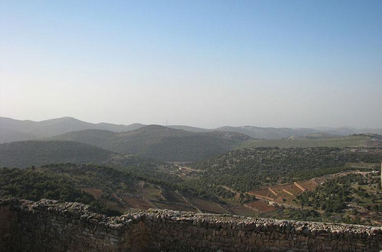 Jordan, Ajloun Woodland Reserve, Farm lands viewed From battlement - © From Flickr user Dale Gillard, Walkopedia