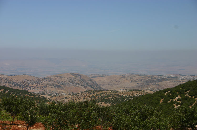 Jordan, Ajloun Woodland Reserve, Toward the Jordan valley - by William Mackesy, Walkopedia