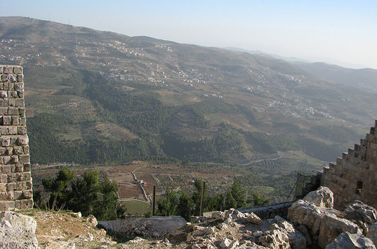 Jordan, Ajloun Woodland Reserve, Town and farms From fortress - © From Flickr user Dale Gillard, Walkopedia