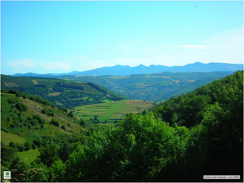 Camino de Santiago: Galician Mountains in the Distance, Camino Frances - © By Flickr user Fresco Tours