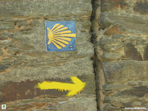 Camino de Santiago: Typical Route Sign, Camino de Santiago - © By Flickr user Fresco Tours