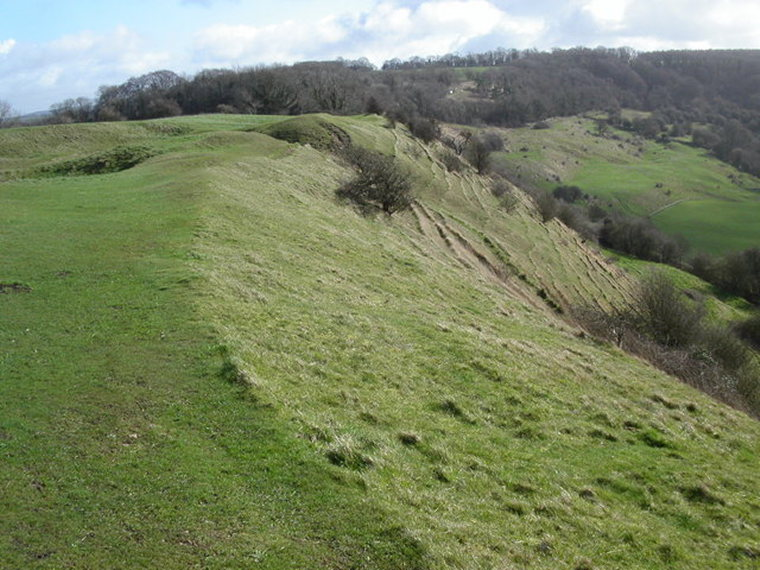 Cotswold Way: Cotswold Way path  - © geograph user Vincent Jones