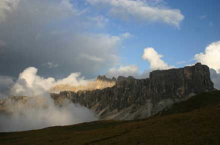 Alta Via No 1 - Evening light From Passo Giau - © William Mackesy