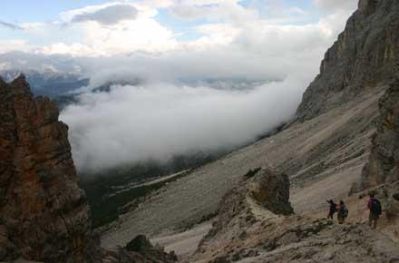Alta Via No 1 - Descending From the Pelmo cliffs - © William Mackesy