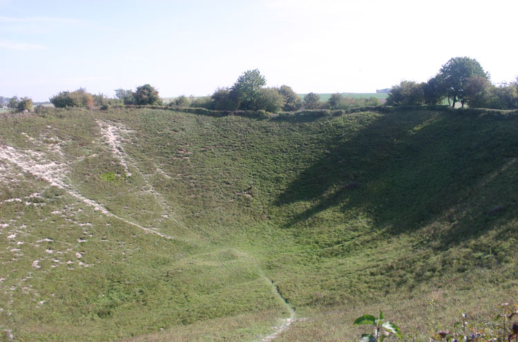 France, First World War Battlefields, Lochnagar crater, Walkopedia