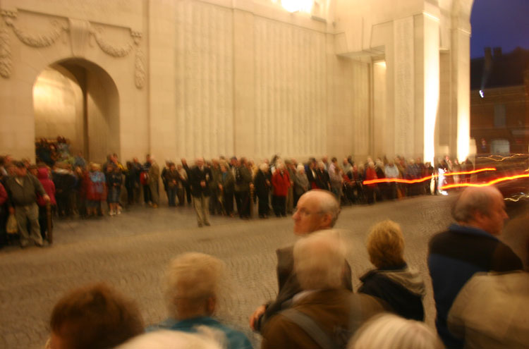 Menin Gate, last post - © William Mackesy