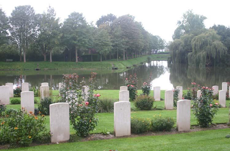 Ypres Ramparts: Main Cemetery in Ypres - © William Mackesy