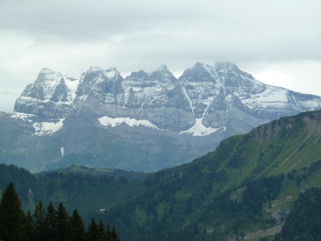 France Alps, GR5 or Grand Traverse des Alpes, Dents du Midi From Les Mattes at 6332 feet, Walkopedia