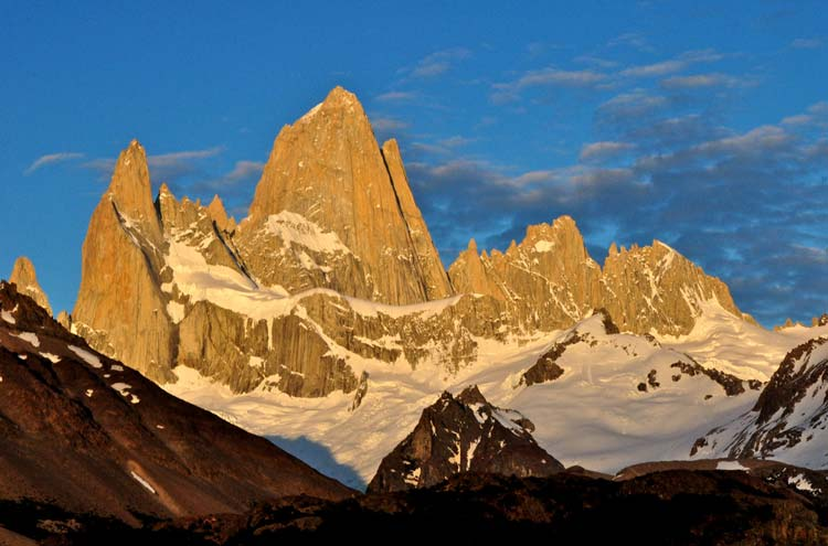 Fitz Roy Sunrise - © By Flickr user GeoffLivingston