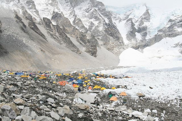 Everest Base Camp, Nepal - © Flickr user ilkerender