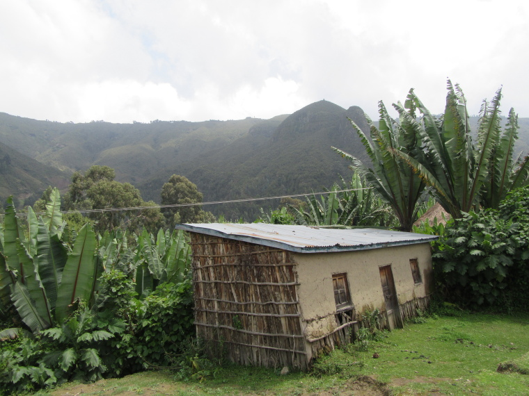 Ethiopia Central, Wonchi Crater Lake , Typical square house in Wenchi Crater , Walkopedia