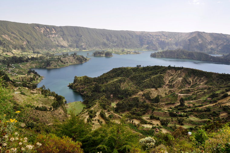 Ethiopia Central, Wonchi Crater Lake , Lake view in the Wenchi Crater, Walkopedia