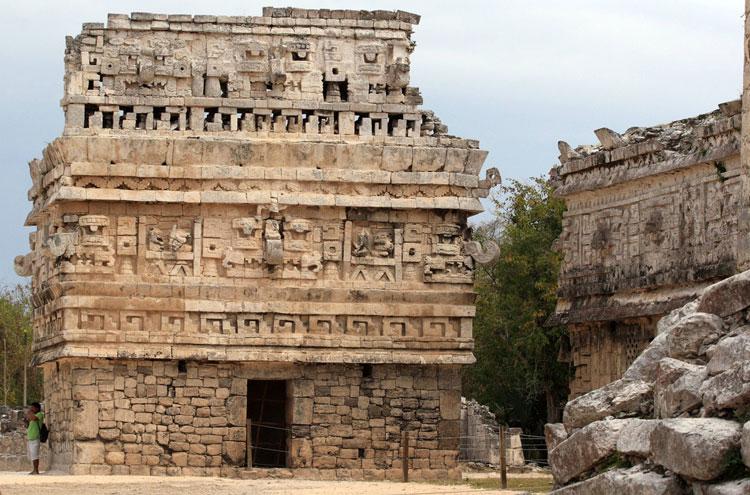 Mexico Yucatan Peninsula, Chichen Itza, Facade of La Iglesia, Walkopedia
