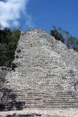 Tulum, and Coba to Yaxuna: Coba, Nohoch Mul (El Castillo) - © By Flickr user Redeo