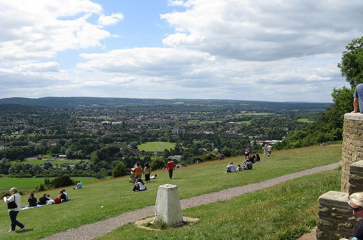 Box Hill: Box Hill panorama - © By Flickr user