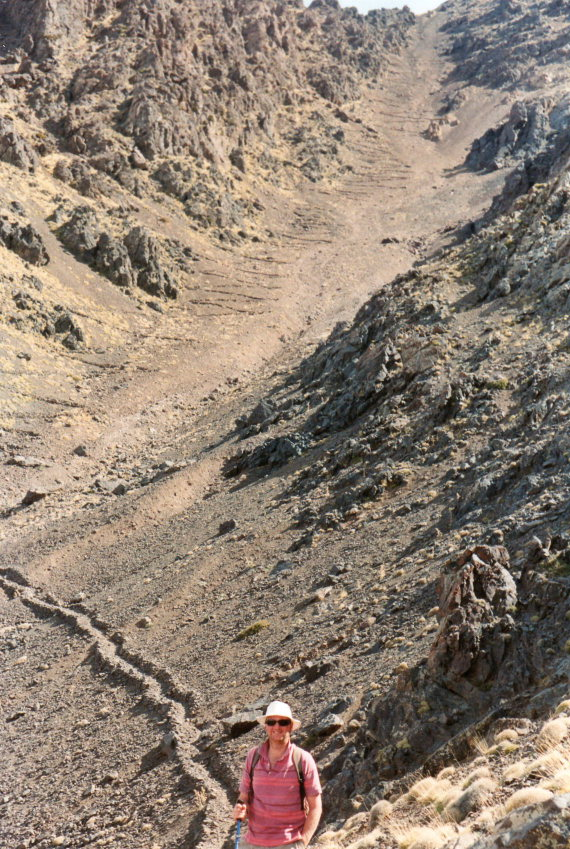 Jebel Toubkal Circuit: I counted 66 ziz-zags - © William Mackesy