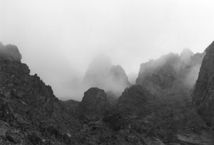 "Jebel Toubkal Circuit: Toward Tizi n"" Ouanaomss, damp day  - © William Mackesy"