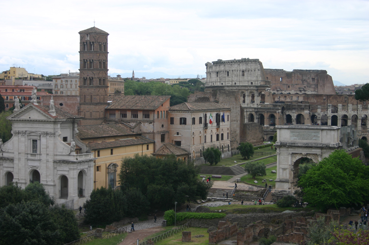 Rome: Across Forum to the Colosseum - © William Mackesy