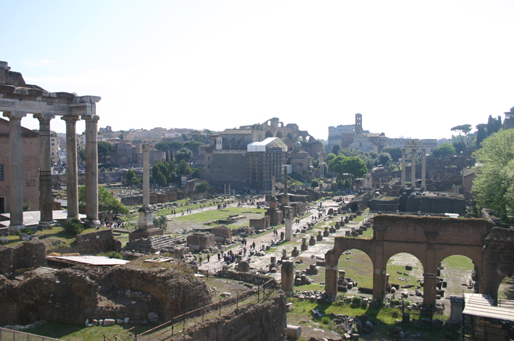Rome: Forum From steps to Capitol - © William Mackesy