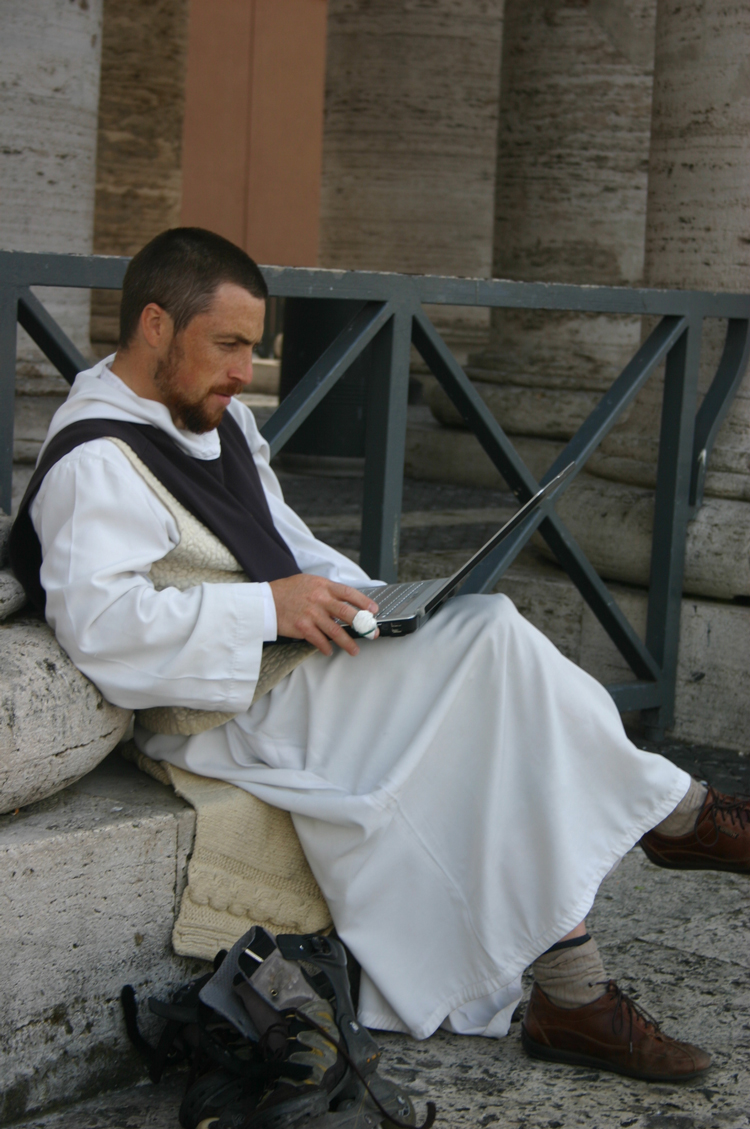 Rome: Yes, a monk on his laptop - © William Mackesy