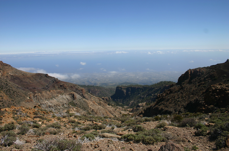 Tenerife: Barranco From the high ridge - © William Mackesy