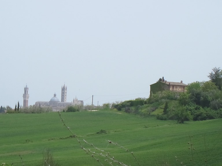Tuscany -  First view of Siena from the north-west - © William Mackesy