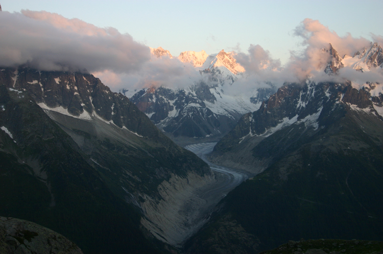 Lac Blanc and Southern Aiguilles Rouges Traverses: Mer de Glace From Lac Blanc - © William Mackesy