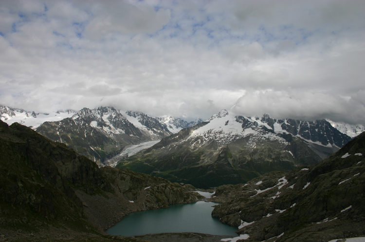 Lac Blanc and Southern Aiguilles Rouges Traverses: Mt Blanc From Lac Blanc - © William Mackesy
