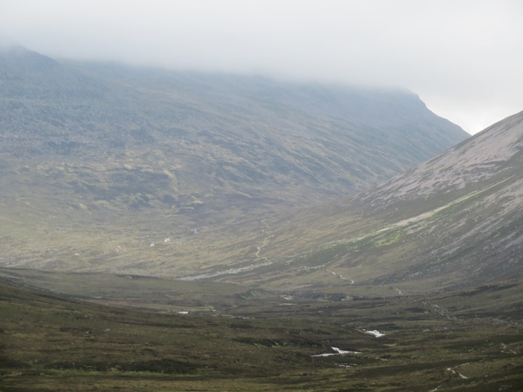 Lairig Ghru: Entering the Lairg Ghru from the south - © William Mackesy