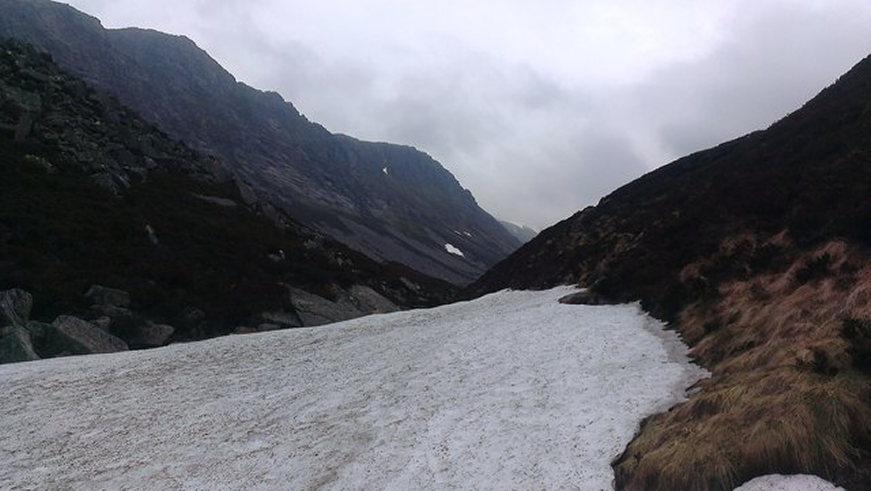 Lairig Ghru: Mini Glacier in the Lairig Ghru  - © geograph user Matt MCConway