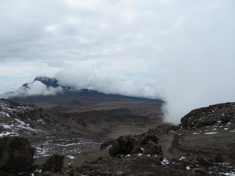 Tanzania Mount Kilimanjaro, Trekking Kilimanjaro , Descent from Stella Point, relatively normal world, Walkopedia
