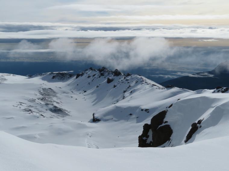 Mount Kilimanjaro : Gilman, Stella ridge from summit ridge 2 - © William Mackesy