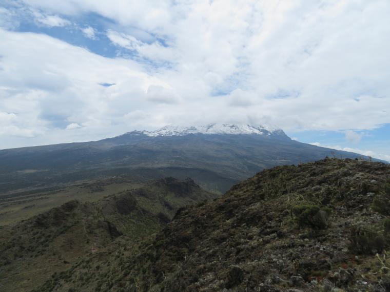 Mount Kilimanjaro : Kibo from Shira Cathedral - © William Mackesy