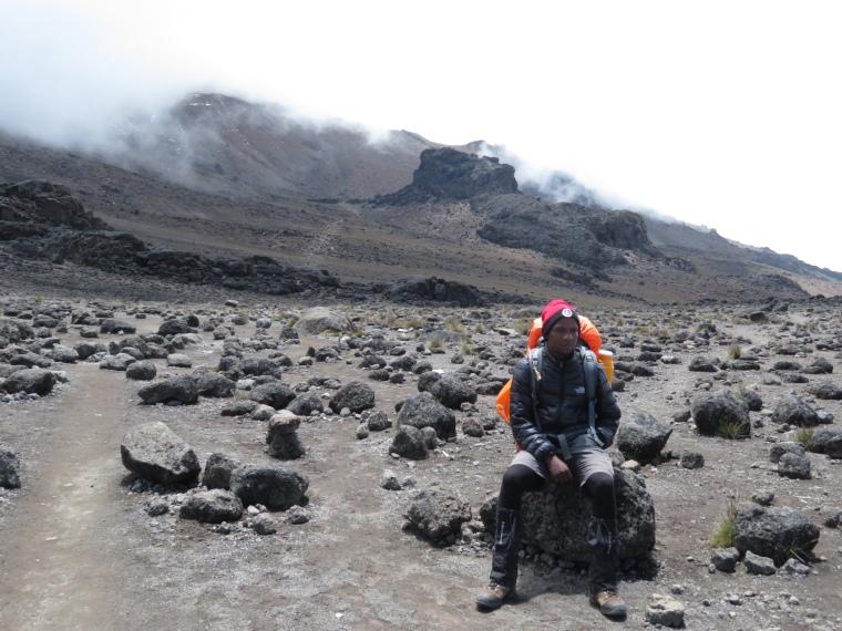 Mount Kilimanjaro : Lava Tower in distance - © William Mackesy