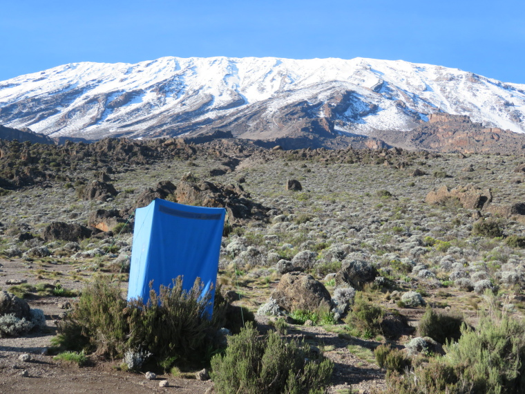 Tanzania Mount Kilimanjaro, Trekking Kilimanjaro , Loo with view, Buffalo camp, Walkopedia