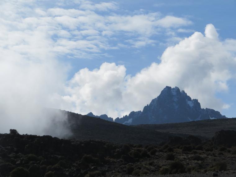 "Mount Kilimanjaro : Mawenzi, Kili""s most beautiful summit, from above 3rd Cave camp - © William Mackesy"