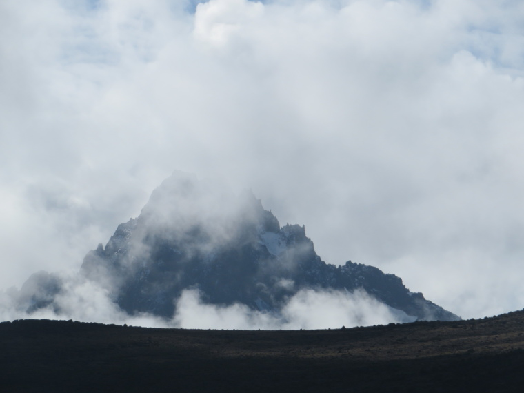 Mount Kilimanjaro : Mawenziand clouds, from above 3rd Cave camp - © William Mackesy